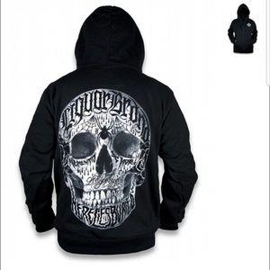 Liquor Brand Live Fast Hoodie Men's XL Skull